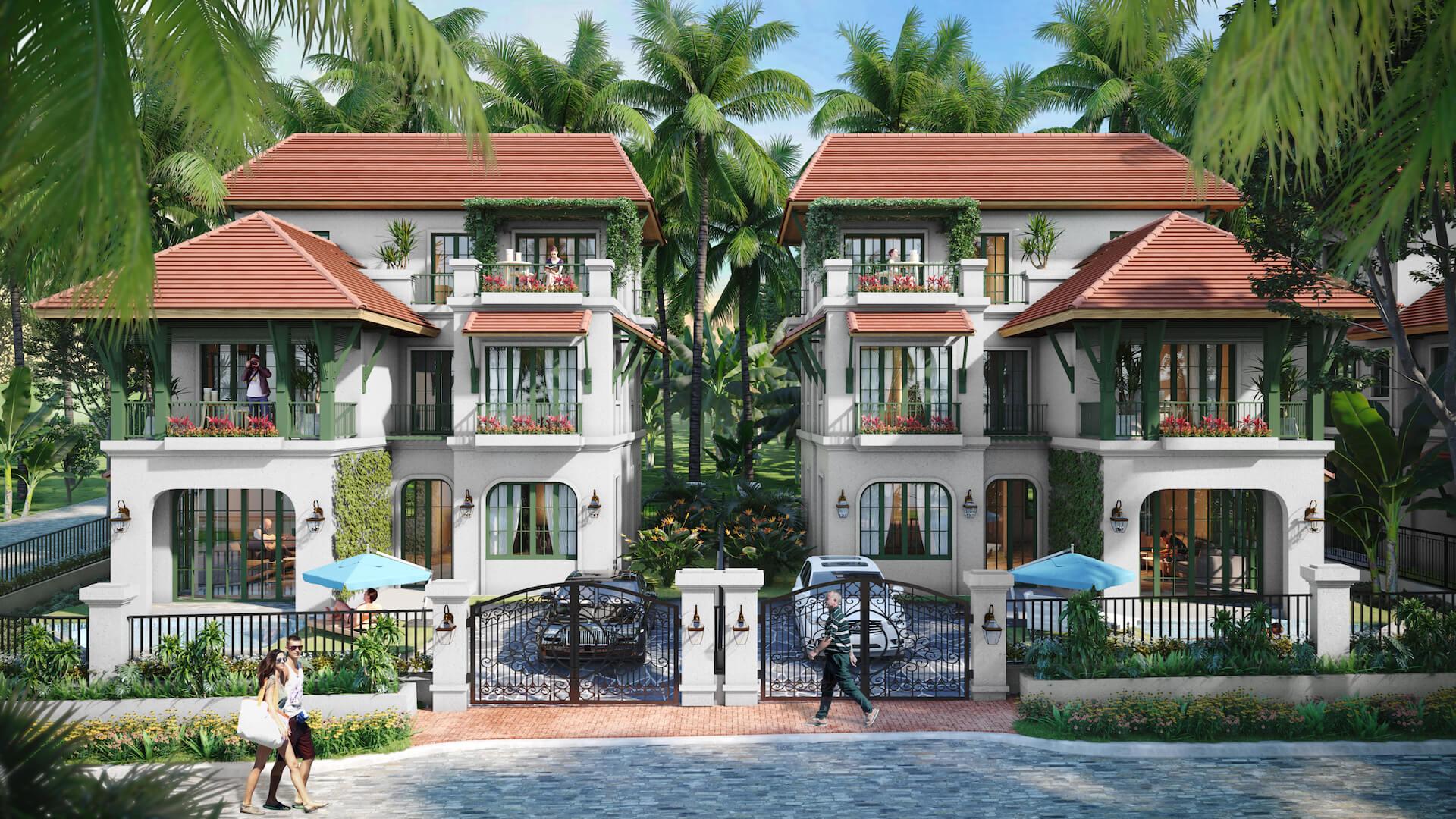 Phối cảnh đơn lập Sun Tropical Village